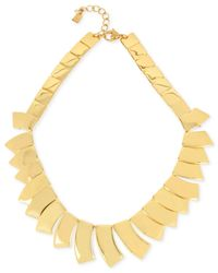 Robert Lee Morris | Metallic Gold-tone Sculptural Geometric Collar Necklace | Lyst
