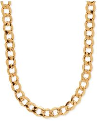 "Macy's | Metallic 22"" Curb Link Chain Necklace In 10k Gold 