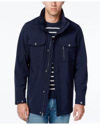 Izod | Blue Men's Long Soft-shell Jacket for Men | Lyst