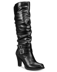 Style & Co. | Black Rudyy Boots, Only At Macy's | Lyst