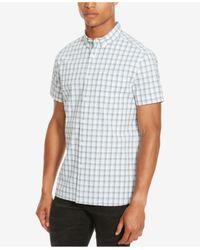 Kenneth Cole Reaction | Multicolor Men's Michael Large-grid Button-down Shirt for Men | Lyst