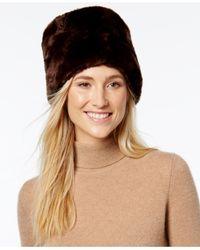 Nine West | Brown Faux-fur Hat | Lyst