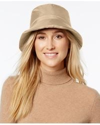 Nine West | Natural Quilted Bucket Rain Hat | Lyst
