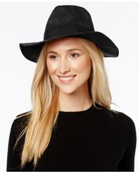 Nine West | Black Faux Suede Rancher Hat | Lyst