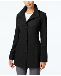 INC International Concepts | Black Stand-collar Peacoat, Only At Macy's | Lyst