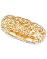 Signature Gold | Metallic Byzantine-inspired Ring In 14k Gold Over Resin | Lyst