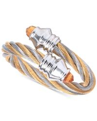 Charriol | Metallic Women's Fabulous Citrine-accent Two-tone Pvd Stainless Steel Cable Ring | Lyst