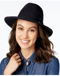 INC International Concepts | Black Packable Panama Hat, Only At Macy's | Lyst