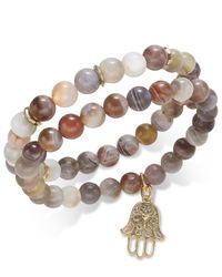 INC International Concepts | Multicolor Gold-tone 2-pc. Semi-precious Beaded Stretch Bracelet Set, Only At Macy's | Lyst