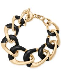 Michael Kors   Metallic Gold-tone Colorblocked Chain Bracelet   Lyst