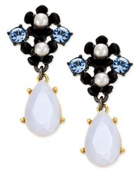 kate spade new york | Blue Pretty Petals Imitation Pearl Flower Drop Earrings | Lyst