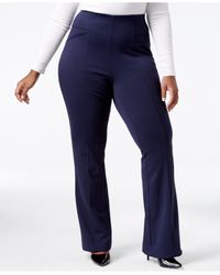 INC International Concepts   Blue Plus Size Ponte Bootcut Pants, Only At Macy's   Lyst