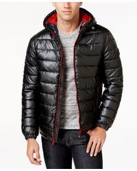 Cole haan Black Leather Car Coat in Black for Men | Lyst
