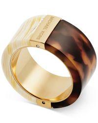 Michael Kors | Metallic Rose Color Blocked Rings | Lyst