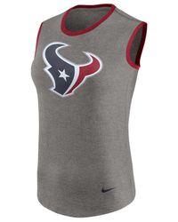 Nike - Gray Women's Houston Texans Standard Tri Tank - Lyst