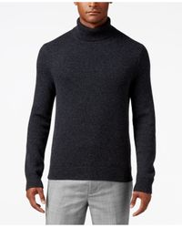 Michael Kors | Blue Men's Textured Cashmere Turtleneck for Men | Lyst