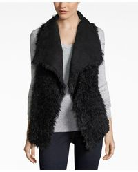 INC International Concepts | Black Faux Sherpa Traveller Vest, Only At Macy's | Lyst