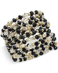 INC International Concepts | Gold-tone Black And Metal Bead Coil Bracelet, Only At Macy's | Lyst