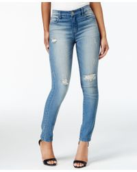 Maison Jules - Blue Ripped Tannis Monte Wash Skinny Jeans, Only At Macy's - Lyst