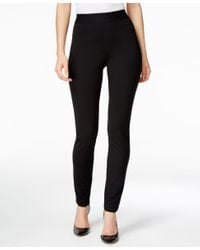 INC International Concepts | Black Pull-on Tummy-control Skinny Pants, Only At Macy's | Lyst