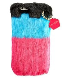 Betsey Johnson | Blue Xox Trolls Faux-fur Iphone 6/6s Case, Only At Macy's | Lyst