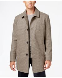 Kenneth Cole - Multicolor Wool-blend Checked Walker Coat for Men - Lyst