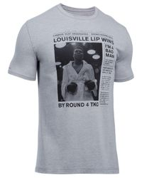 Under Armour | Gray Men's Muhammad Ali Cotton Graphic-print T-shirt for Men | Lyst
