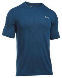 Under Armour | Blue Men's Threadborne Embossed T-shirt for Men | Lyst
