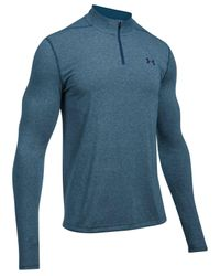 Under Armour - Blue Threadborne Performance Quarter-zip Long-sleeve Pullover Shirt for Men - Lyst