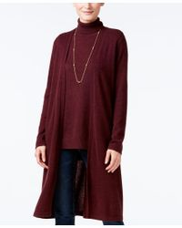Charter Club - Red Cashmere Duster Cardigan, Only At Macy's - Lyst