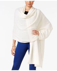 Charter Club Blue Cashmere Oversized Scarf Wrap, Only At Macy's
