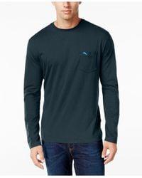 Tommy Bahama | Blue Men's Pima Long-sleeve T-shirt for Men | Lyst