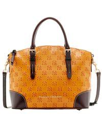 Dooney & Bourke | Yellow New York Yankees Leather Domed Satchel | Lyst