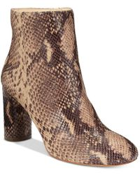 INC International Concepts - Brown Women's Taytee Block-heel Booties, Only At Macy's - Lyst