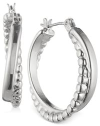 Nine West | Metallic Twisted Hoop Earrings | Lyst