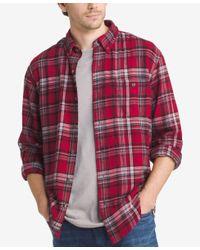 G.H. Bass & Co.   Brown Men's Plaid Flannel Long-sleeve Shirt for Men   Lyst