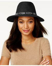 BCBGeneration | Black X Hardware Panama Hat | Lyst