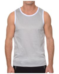 2xist | Gray 2(x)ist Athleisure Men's Mesh Muscle Tank for Men | Lyst