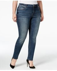 INC International Concepts   Blue Plus Size Slim-tech Skinny Jeans, Only At Macy's   Lyst