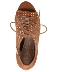 Jessica Simpson | Brown Barlett Lace-up Booties | Lyst