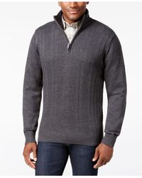 Tricots St Raphael | Gray Men's Variegated Rib-knit Sweater for Men | Lyst