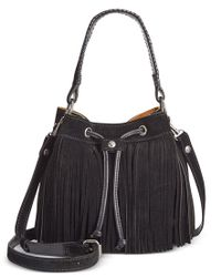 Patricia Nash | Black Suede Fringe Elisa Bucket Bag | Lyst