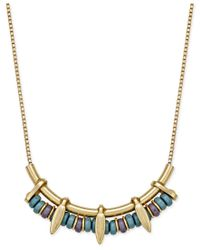INC International Concepts | Metallic Gold-tone Beaded Linear Bib Necklace, Only At Macy's | Lyst