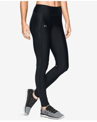 Under Armour | Black Fly By Heatgear® Printed Capri Leggings | Lyst