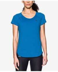 Under Armour | Blue Coolswitch Running Top | Lyst