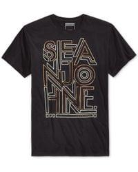 Sean John | Black Men's Logo Graphic-print T-shirt, Only At Macy's for Men | Lyst