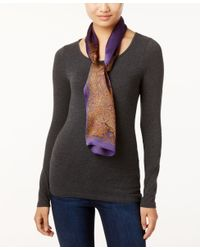 Lauren by Ralph Lauren | Purple Sonia Silk Oblong Scarf | Lyst