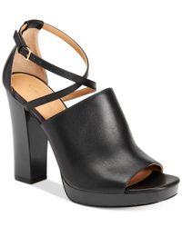 Calvin Klein - Black Women's Baida Strappy Platform Sandals - Lyst