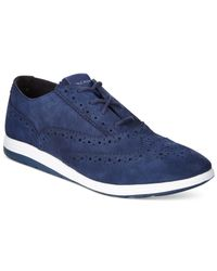Cole Haan | Blue Grand Tour Oxford Sneakers for Men | Lyst