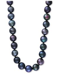 Effy Collection | Effy Cultured Tahitian Pearl (10mm) Collar Necklace In 14k White Gold | Lyst
